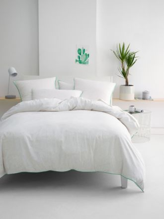 Cora White Quilt Cover Set