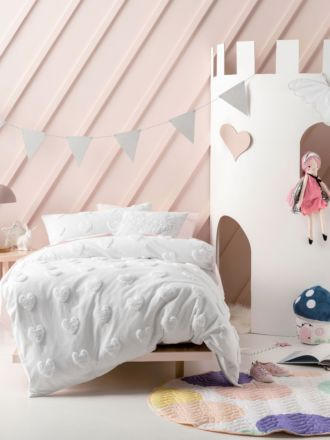 Love Me Do Marshmallow Quilt Cover Set