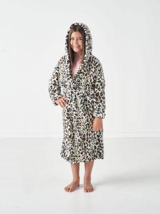 Plush Kids Leopard Robe
