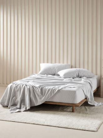 Landyn Smoke Flannelette Sheet Set