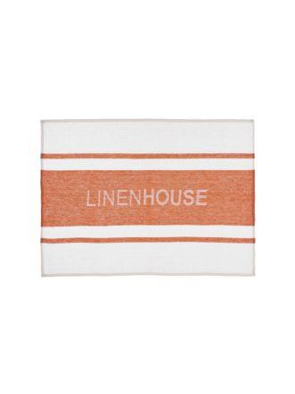 Linen House Terracotta Tea Towel