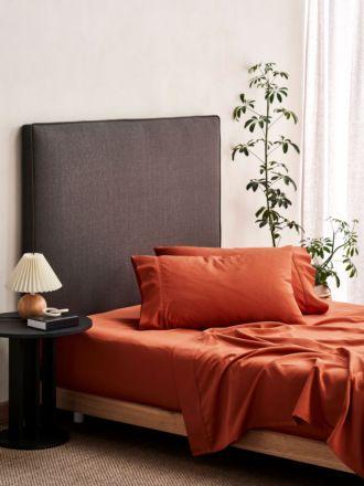 Aria Paprika Bamboo Cotton 600TC Sheet Set