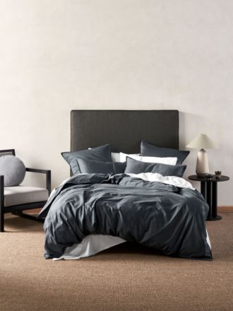 Aria Slate Bamboo Cotton 600TC Quilt Cover Set