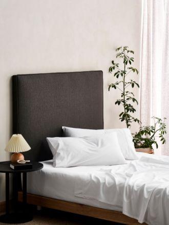 Aria White Bamboo Cotton 600TC Sheet Set