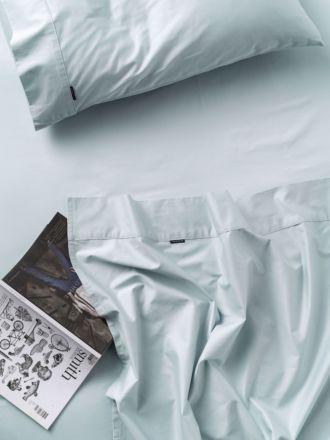500TC Pale Blue Cotton Sateen Sheet Set