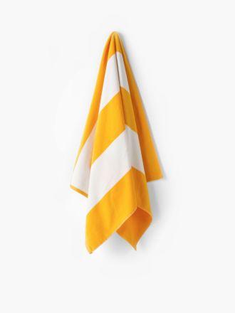 Cabana Yellow Beach Towel