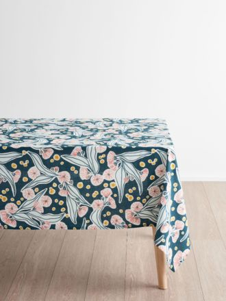 Evie Teal Tablecloth