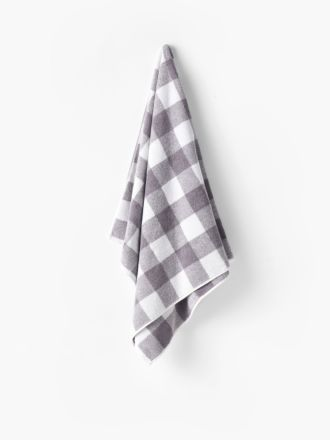 Flinders Check Grey Towel Collection