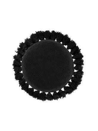 Florida Black Cushion 45cm Round