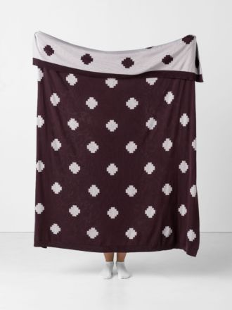 Getty Aubergine Throw
