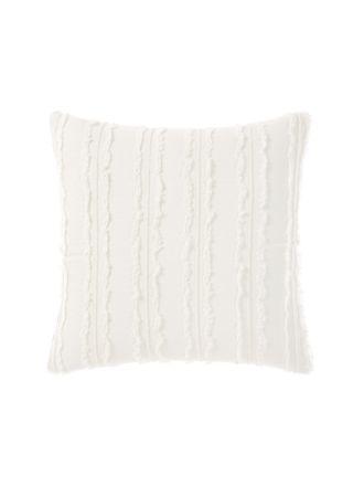 Heather White European Pillowcase