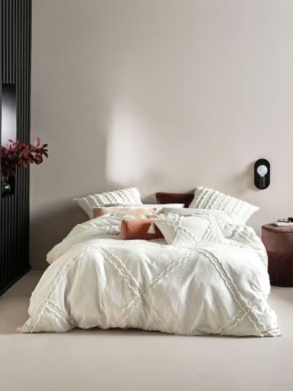 Heather White Quilt Cover Set