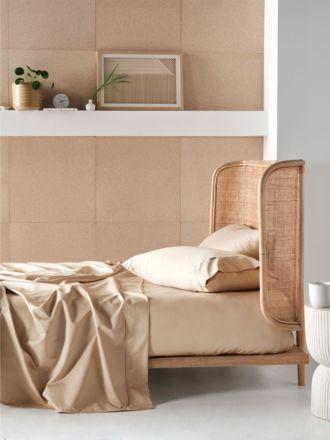 800TC Taupe Cotton Sateen Sheet Set