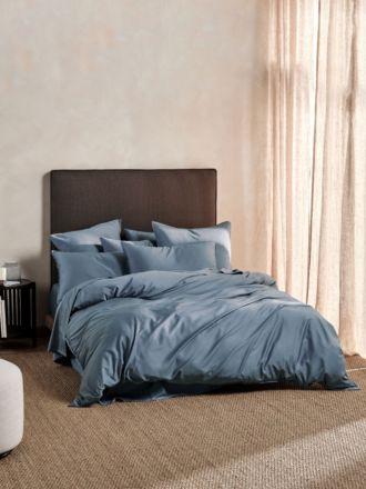 Nara Bamboo Cotton Bluestone Quilt Cover Set