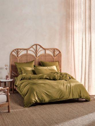 Nara Bamboo Cotton Bronze Quilt Cover Set