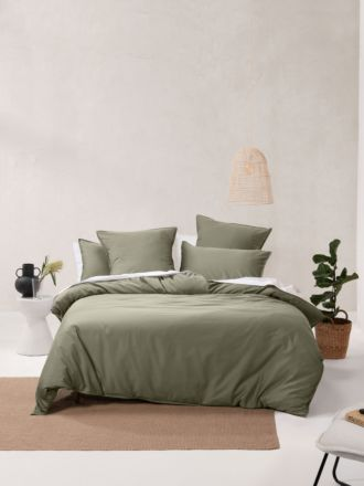 Nara Bamboo Cotton Moss Quilt Cover Set