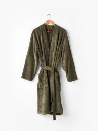 Nara Cotton/Bamboo Moss Bath Robe