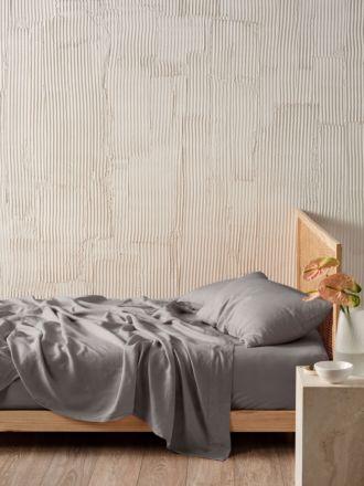 Pure Linen Ash Sheet Set