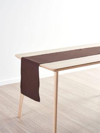 Nimes Espresso Linen Table Runner