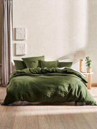 Nimes Fern Linen Quilt Cover Set