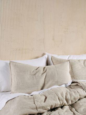 Nimes Natural Linen Pillow Sham Set