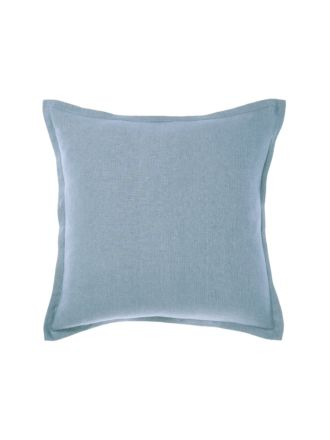 Nimes Blue Linen Tailored Cushion 48x48cm