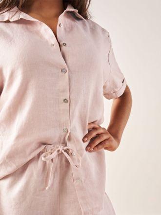 Nimes Rose Linen Shirt