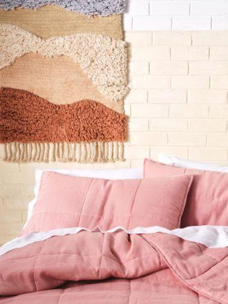 Nimes Rosette Linen Pillow Sham Set