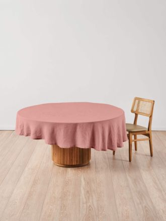 Nimes Rosette Linen Round Tablecloth