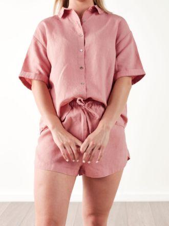 Nimes Rosette Linen Shirt
