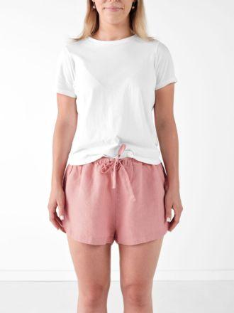 Nimes Rosette Linen Shorts