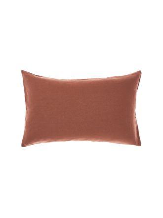 Nimes Rust Linen Standard Pillowcase