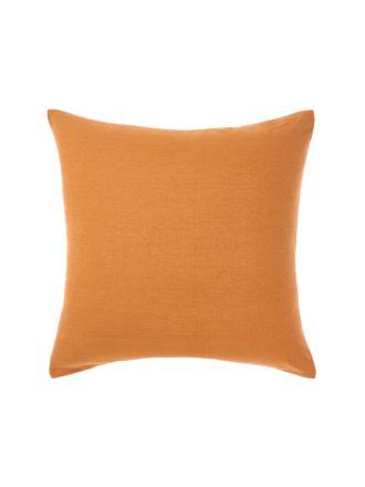 Nimes Terracotta Linen European Pillowcase