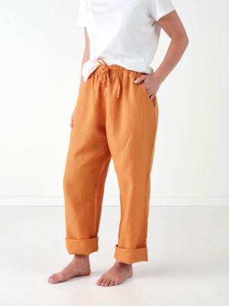 Nimes Terracotta Linen Pants