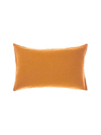 Nimes Terracotta Linen Standard Pillowcase