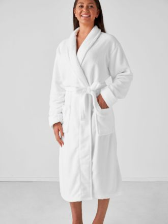 Plush White Robe