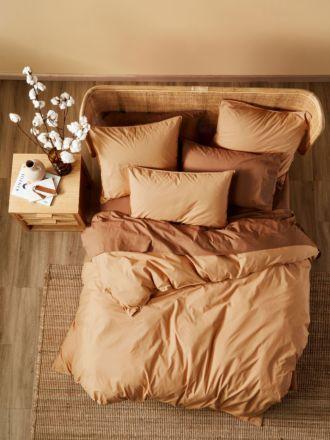 Terra Organic Cotton Caramel Quilt Cover Set
