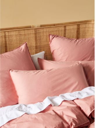 Terra Organic Cotton Rosette Standard Pillowcase Pair