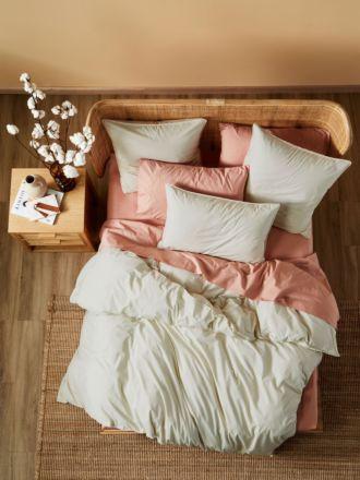Terra Organic Cotton Stone Quilt Cover Set