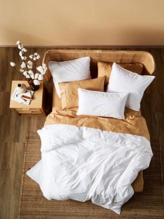 Terra Organic Cotton White Quilt Cover Set