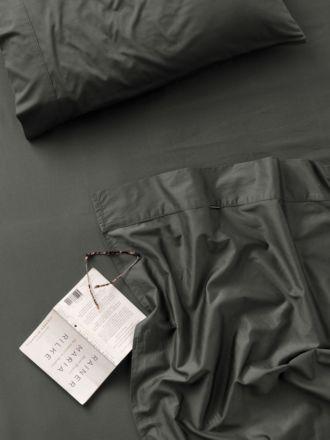 300TC Charcoal Cotton Percale Sheet Set