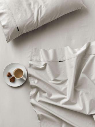 300TC Grey Cotton Percale Sheet Set