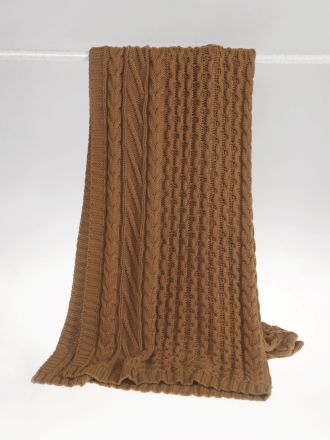 Cable Knit Spice Throw