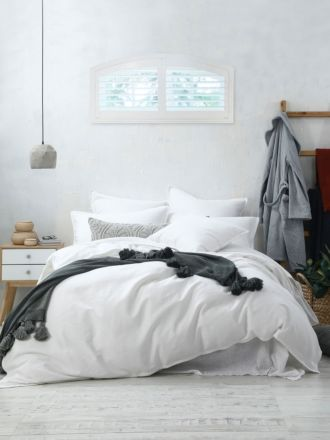 Stitch White Quilt Cover Set