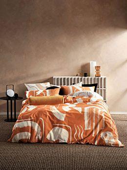 Arden Apricot Quilt Cover Set