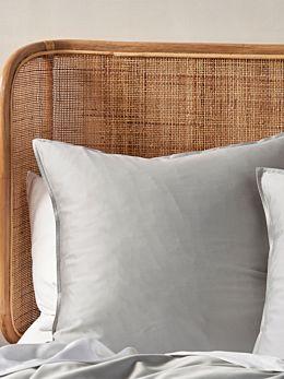 Aria Silver Bamboo Cotton 600TC European Pillowcase