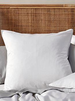 Aria White Bamboo Cotton 600TC European Pillowcase