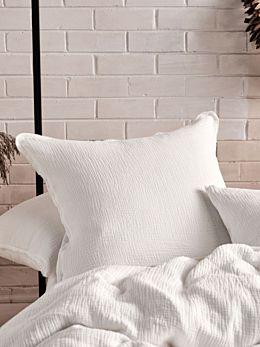 Elysian White European Pillowcase