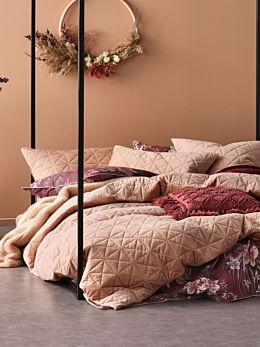 Heath Terracotta Quilt Cover Set