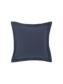 Deluxe Waffle Bluestone European Pillowcase